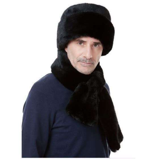 Men's marten imitation mink hat middle aged men flat cap male winter thickening Claus hat B-0652