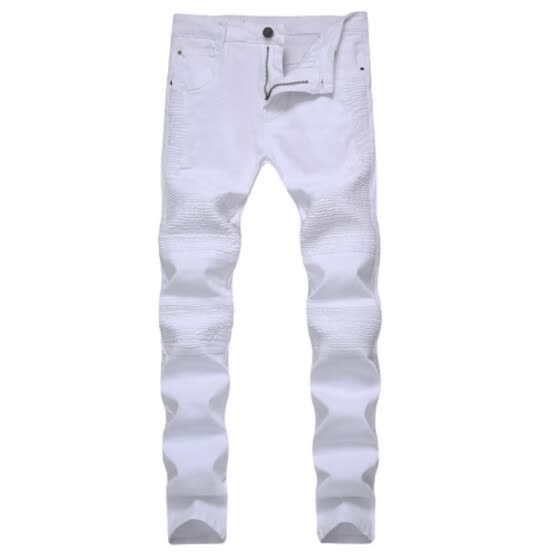 Men Jeans Stretch Runway Slim Racer Biker Demin Jeans Hiphop Skinny Jeans Pants For Men
