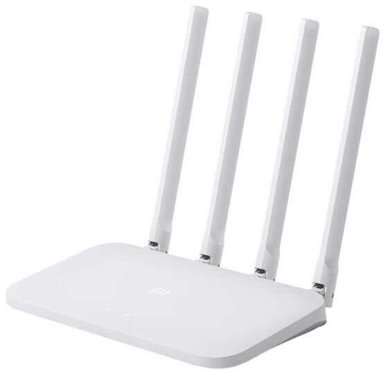 Original Xiao mi mi Router WI-FI 4C 64 RAM 802.11 b / g / n 2.4g 300 Mbps 4 Repeater Band antennas Wireless Routers APP Control