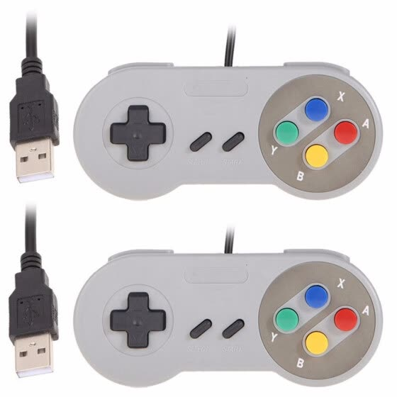 2Pcs Game Controller for Super SNES USB Classic Gamepad Compatible with all for Mac Operating Systems!
