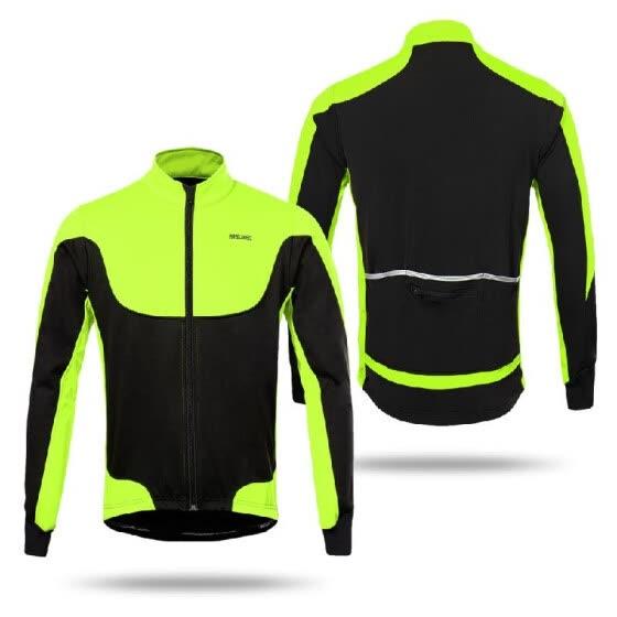 Arsuxeo Men s Windproof Thermal Fleece Lined Winter Cycling Jacket Outdoor  Sport Coat Riding Long Sleeve Jersey 99b6fb6b2
