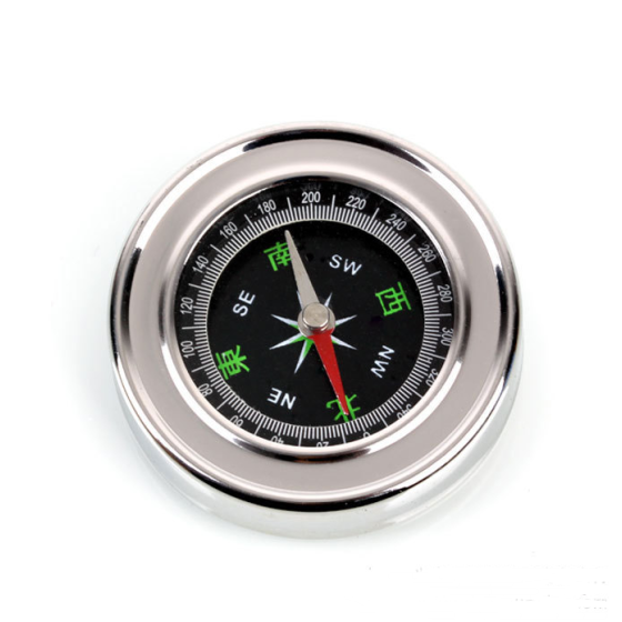 Outdoor camping mountaineering stainless steel compass  Compass tourist camping good helper diameter 60MM