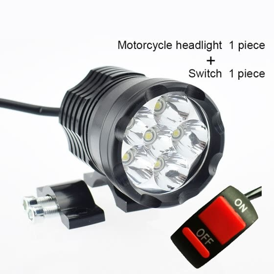 Motorcycle 12V 60W LED Headlight Motorbike Spotlight Headlamp 6000K White auxiliary Driving Lamp DRL LED Moto Spot Head Lights