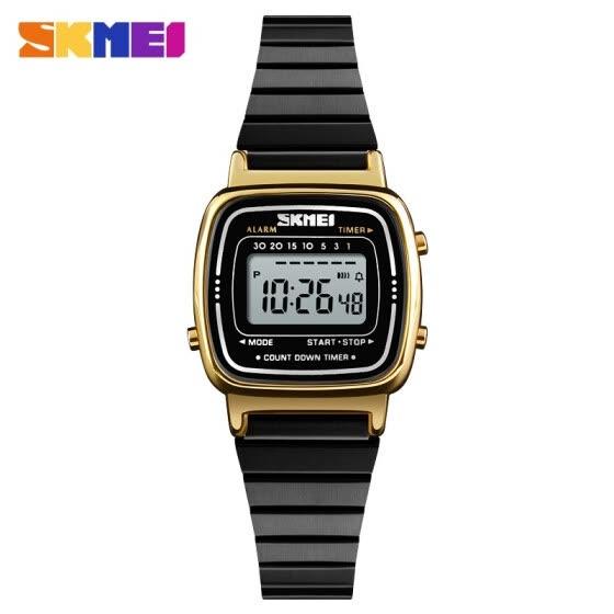 8f59253b742 SKMEI Lady s Digital Fashion Watch Best Brand Luxury Casual Waterproof For  Women Clock Countdown Alarm Wrist