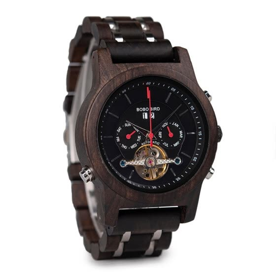 BOBO BIRD wooden mechanical watch with tourbillon Q27