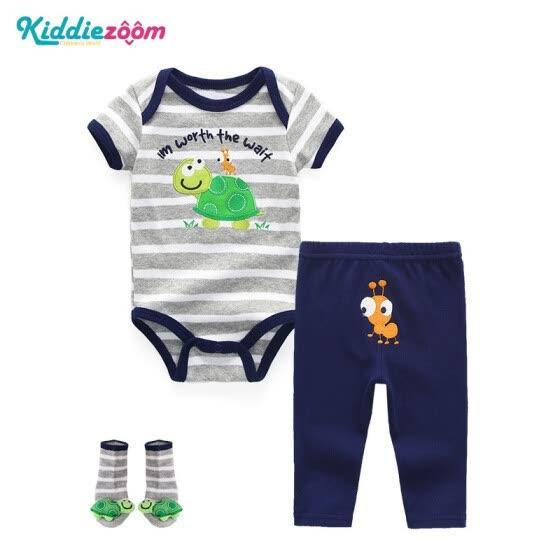 9ed16de5e 3Pcs/lot Baby Bodysuits+Pants+Socks Cotton Baby Clothes Boys Girls For  Babies