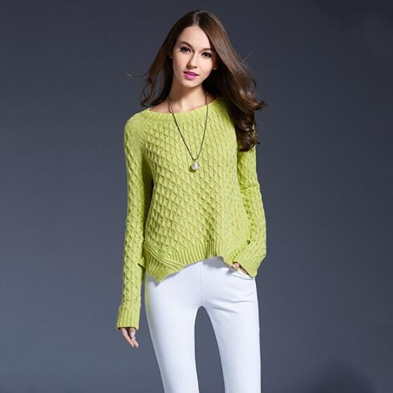 O Neck Long Knit Dress Women Autumn Winter Slim Pullover Sweater Long Sleeve