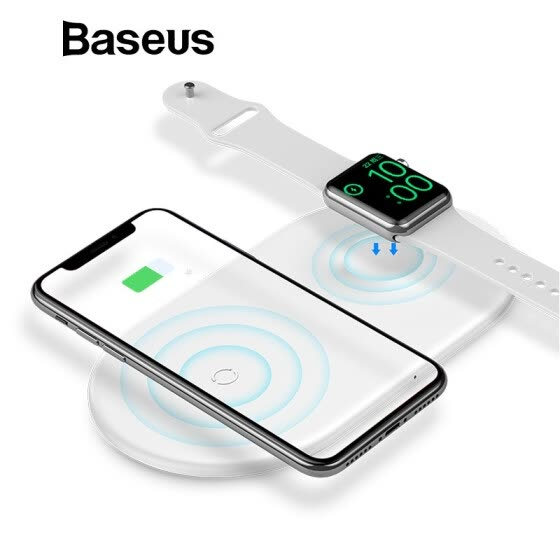 Baseus 2 In 1 Wireless Charger для Iphone X Xs Max Xr Apple Watch 4