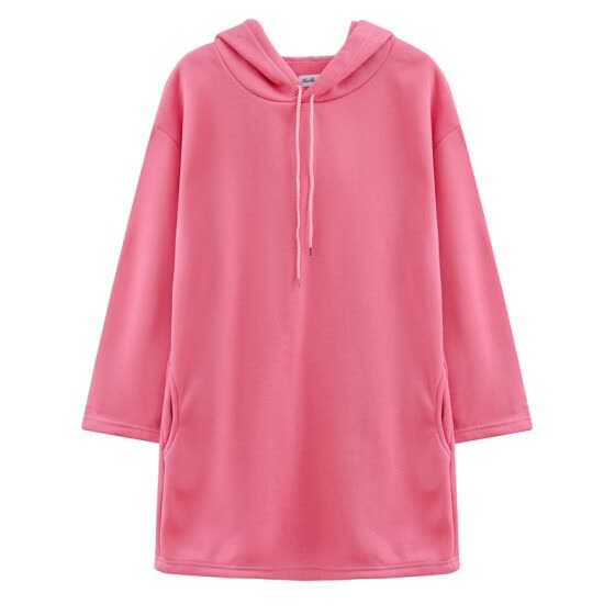 Hoodie female long student loose spring and autumn new long-sleeved hooded pullover