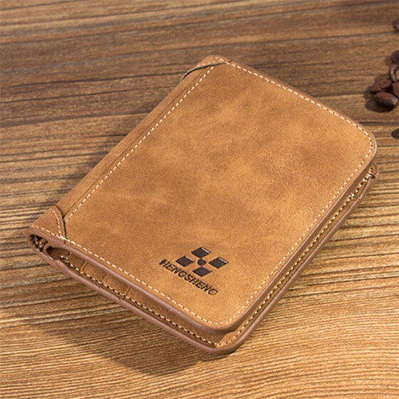 Men/'s Leather Small Wallet ID Credit Card holder Bifold Coin Purse Pocket Clip L