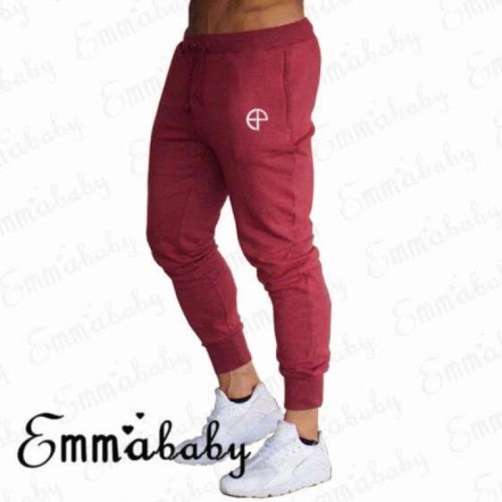 Emmababy Men Casual Jogger Dance Sport Pants Slacks Tracksuit Trouser Sweatpants