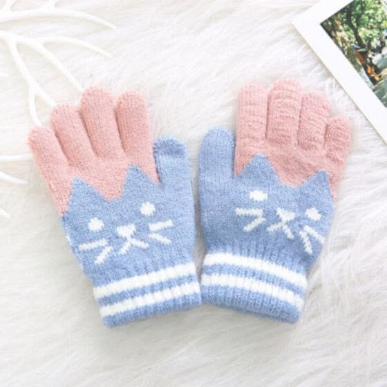 Kids Magic Gloves /& Mittens Kid Stretchy Knitted Winter Warm Gloves for Girl Boy