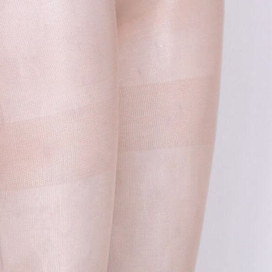 eeb34681fb2 Woman Sheer Lace Top Thigh High Stocking With Back One Size Black Coffee