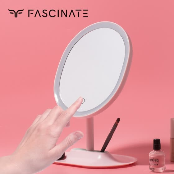 Fiji color smart mirror smart home HD LED makeup mirror light beauty makeup mirror birthday Valentine's Day gift girlfriend creative gift cherry powder