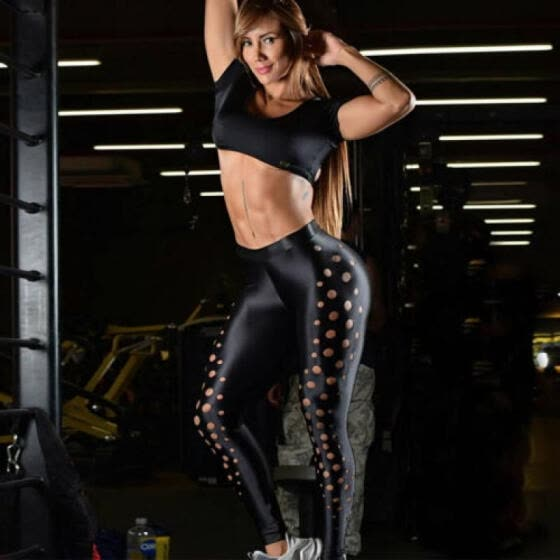 Women Yoga Pants Ladies Fitness Leggings Running Gym Exercise Sports  Trousers AU a948811a56