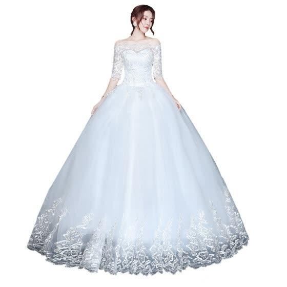Wholesale Wedding Dresses.Shop 2019 New Wholesale Wedding Dress Half Sleeve Off Shoulder