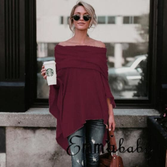 Fashion Womens Long Sleeve Loose Blouse Casual Shirt Summer Cotton Tops T-Shirt