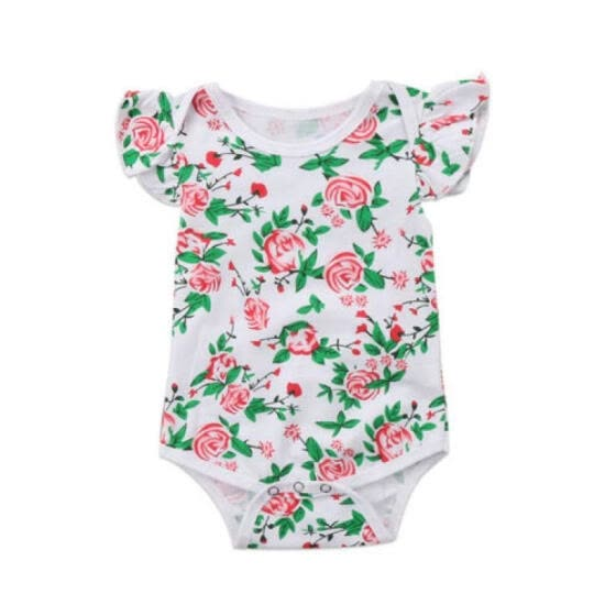 Canis Cute Newborn Kids Baby Girls Tops Floral Overall Skirts Dress Outfits Set