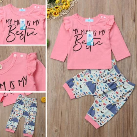Shop Casual Newborn Baby Girls Tops T Shirt Whale Trousers Pants