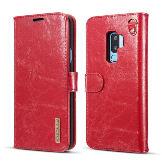 DG.MING Flip book case For Samsung S9 PLUS note8 Funda Luxury Geniune Leather Wallet phone For samsung galaxy S9 s8plus S7edge