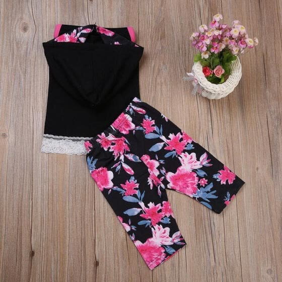 a485e948d4 Newborn Infant Baby Girl Clothes Hoodie Tops Floral Pants Outfit Sets US  STOCK