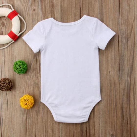 7e0ac9bfe87e Cotton Newborn Infant Baby Boy Girl Romper Bodysuit Summer Shirt Clothes  Outfits