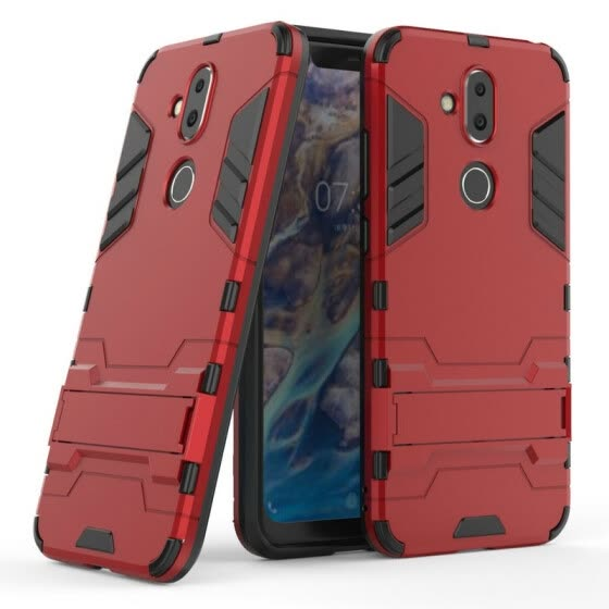 for Nokia 8.1 WIERSS Shockproof Hard Phone Case for Nokia 8.1 Armor Case Back Cover Fundas Capa Etui>
