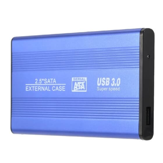 "Portable Superspeed USB 3.0 HDD SSD SATA External Aluminum 2.5"" Hard Drive Disk Box Enclosure Case Up To 1TB + Free Bag N0S5N6U0"