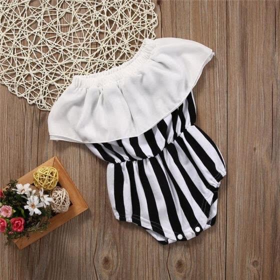77919c525 Stock de Estados Unidos Bebé recién nacido mameluco mono traje de algodón  ropa ...