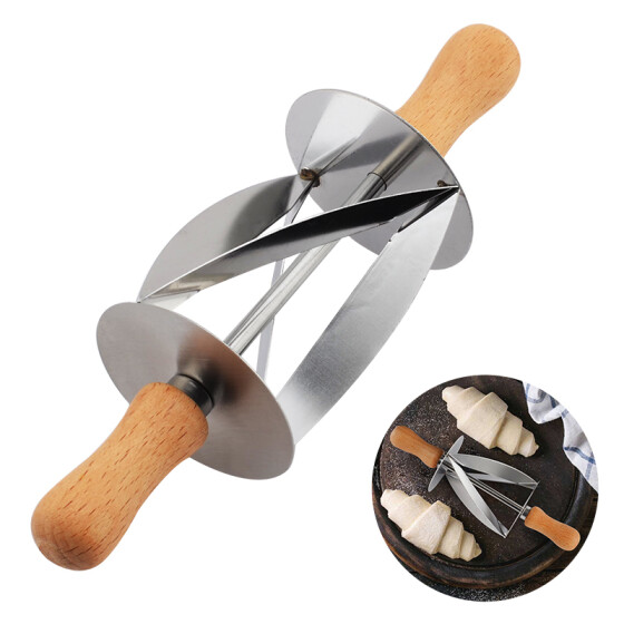 Stainless Steel Pastry Cutter 5 Wheel Expandable Bread Slicer Portable Dough