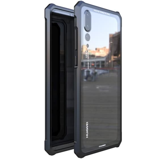 Original LUPHIE Phone Case For HUAWEI P20/ P20 Pro/ P20 Lite Metal Aluminum Frame + 9H Tempered Glass Back Cover Shockproof Case