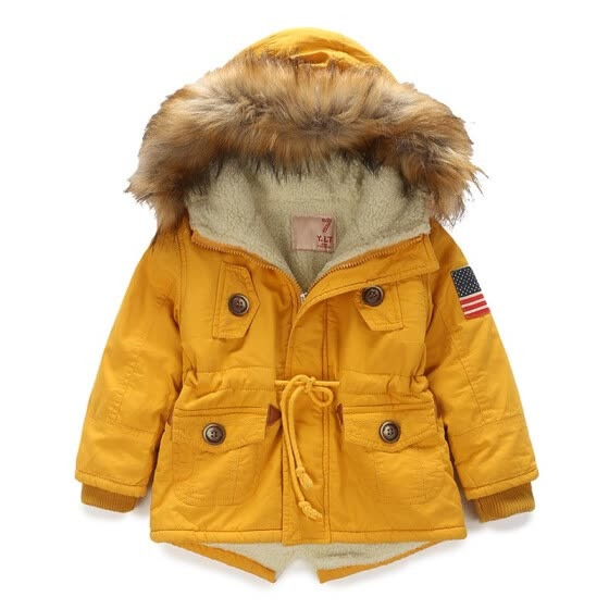 3ebd7aae7ab2 Shop Kids coat 2018 Autumn Winter Boys Girls Jacket for Children ...