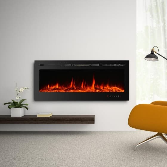 Shop Built In Touch Control Electric Fireplace 50 Embedded