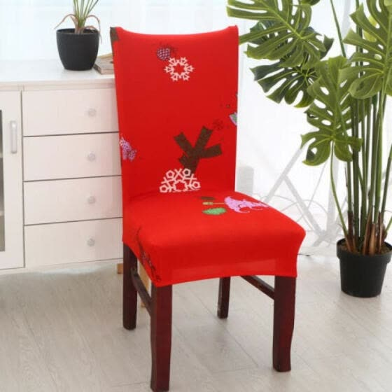 Christmas Elastic Stretch Slipcovers Dining Room Chair Seat Cover Xmas Decor UK