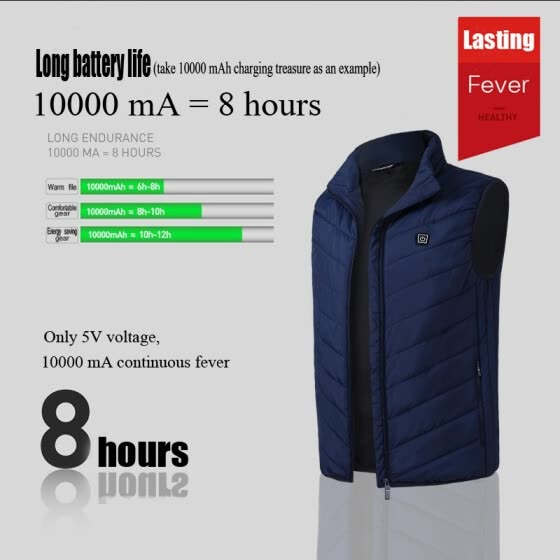 Charging heating vest 2019 autumn and winter new smart heating electric hot vest cotton coat Slim warm vest