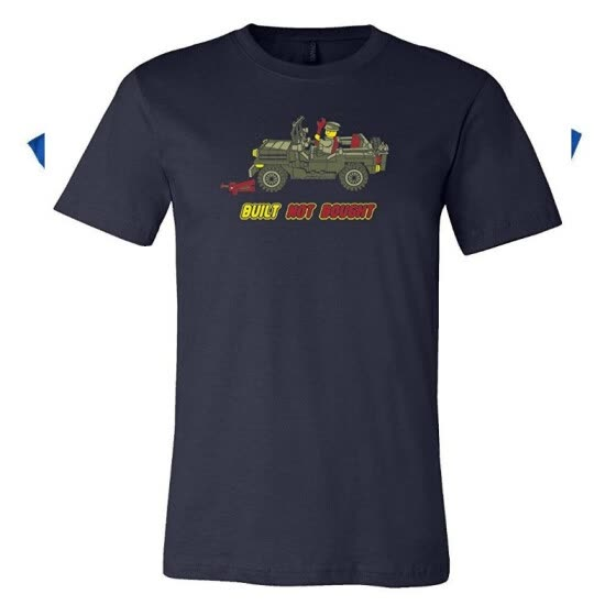 Built Not Bought LEGO Willy's MB Tagless Jeep Shirt - Navy