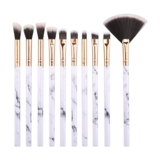 Makeup Brushes Premium Synthetic Foundation Powder Concealers Eye Shadows Makeup Brush Sets 10 Pcs