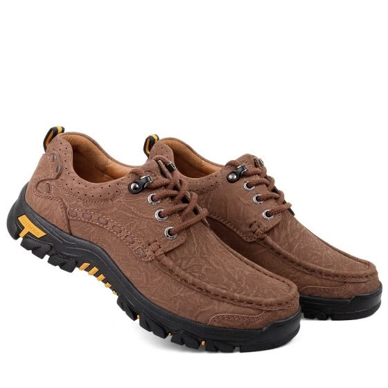 Outdoor casual shoes leather breathable leather sports running shoes hiking shoes