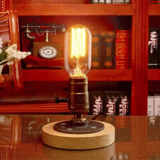Shop Baycheer Hl422555 Five Inches Wide Single Light Wood Base Led