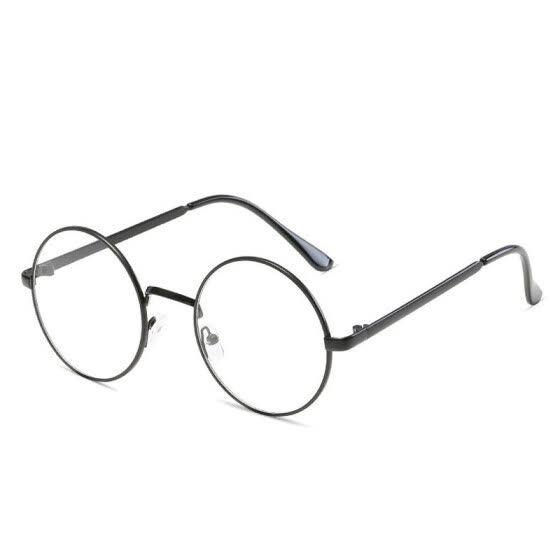 80a2fe115c Round Simple Glasses frame Fashion Oval casual eyewear Clear lens Metal  round Optics Glasses accessory