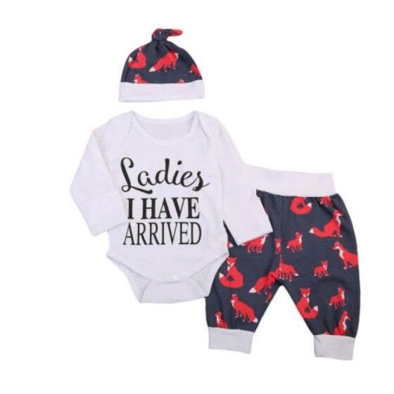 Shop AU Stock Newborn Baby Boys I Have Arrived Tops Romper +