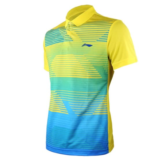 Li Ning LI-NING Badminton Men's T-shirt short-sleeved clothing breathable quick-drying L code