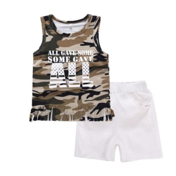 Shop AU STOCK Newborn Infant Baby Girl Outfits Clothes Camo ...