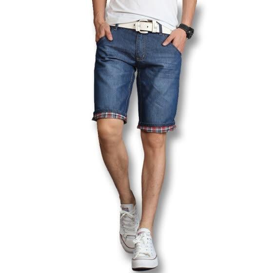 Men Denim Shorts New Arrivals Men Fashion Shorts 2016 Summer Blue Men Jeans Shorts Casual Slim Fits Plus Size Shorts 38 Hot Sale
