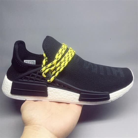 821f971d14c06 36-47 NMD Human Race trail Running Shoes Men Women Pharrell Williams HU  Runner Yellow