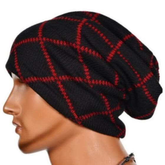 9e8565876 Shop Men's Women's Knit Baggy Beanie Oversize Fashion Winter Hat Ski ...