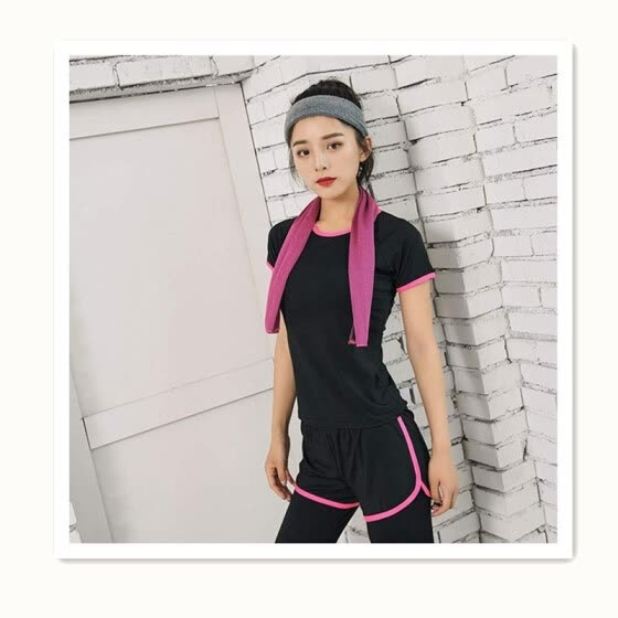 4119a6fe5ba New fitness clothes sports suit women Thin and quick-drying running clothes  yoga clothes short