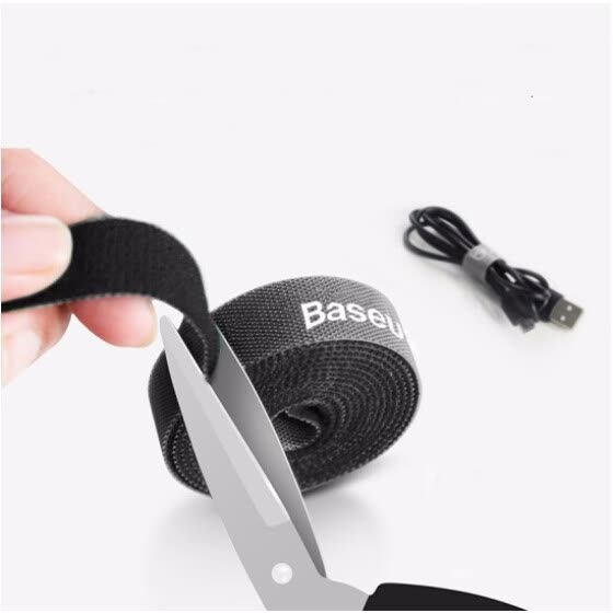 Baseus Tie Line with Universal Cable with Cable Storage Fixed Finishing Winding with Cable Cotroller Velcro Adhesive Nylon