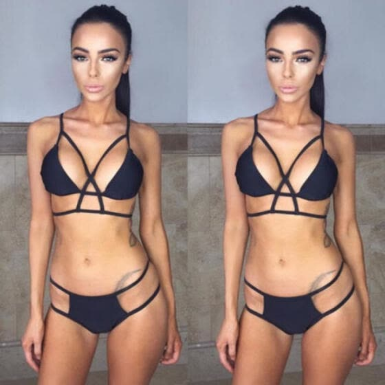 f2f8c9d595 UK Women Bandage Push-up Padded Bra Bandage Bikini Set Swimsuit Swimwear  Bathing