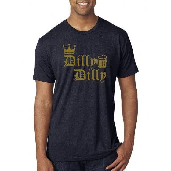 da0bfac51 Dilly Dilly Shirt Mens Light Beer Drinking Tee l Premium Tri Blend Funny St  Patricks Day